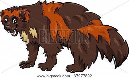 Wolverine Animal Cartoon Illustration