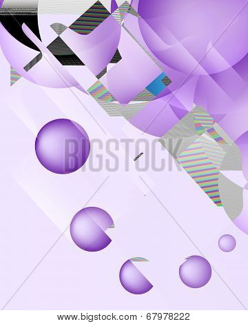 Design Element Letter M  On Abstract Background