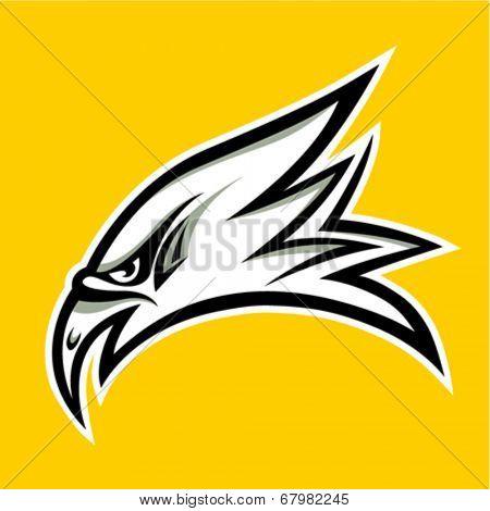 eagle head tattoo design - vector illustration