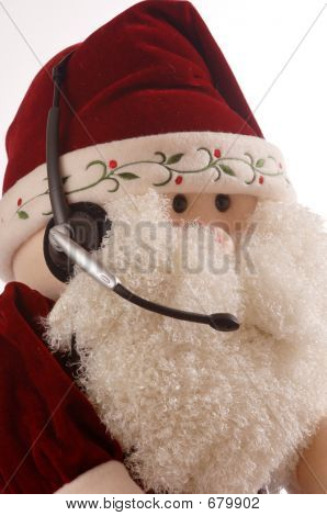 Santa Face With Headset