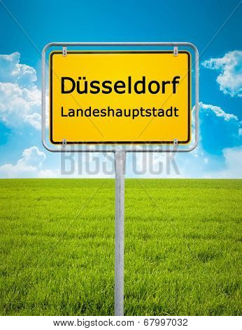 An image of the city sign of Duesseldorf