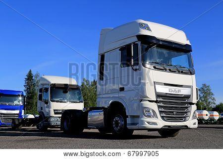 Daf Xf Euro 6 Truck On A Yard