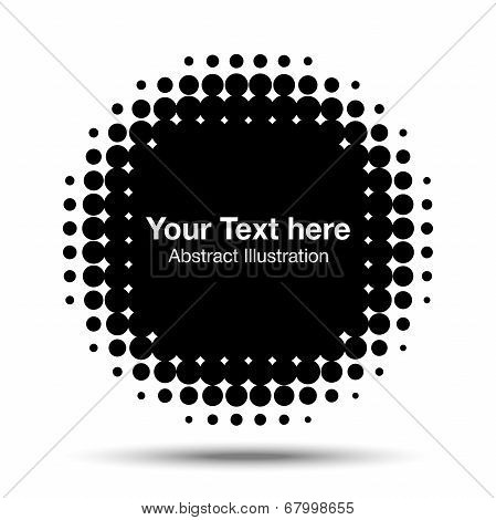 Black Abstract Halftone Design Element, vector illustration poster