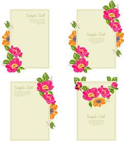 set wedding invitation card