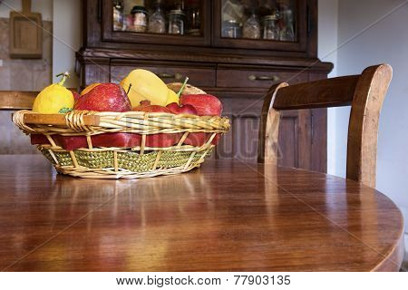 Fruit Basket On The Table