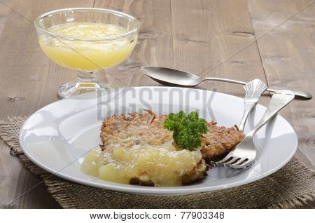 Potato Pancake With Bramley Apple Sauce