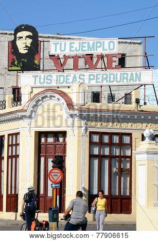 Che Guvara's omnipresence in Cienfuegos, Cuba