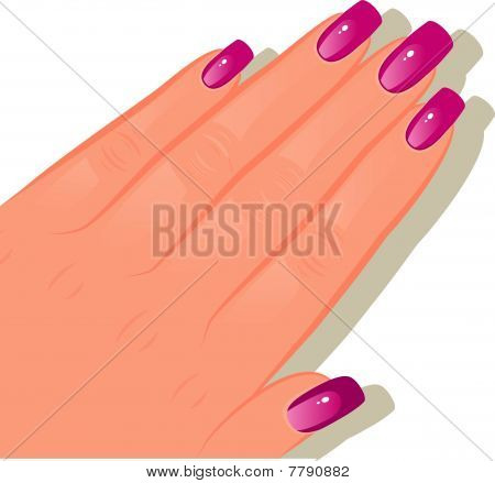 Female hand with manicured
