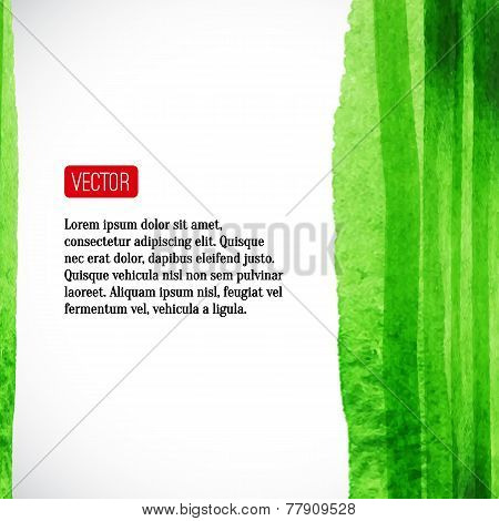 Vector  watercolor background with red label.