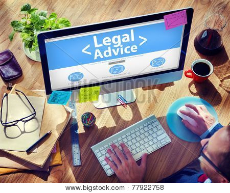 Legal Advice Compliance Consulation Expertise Help Browsing Concept