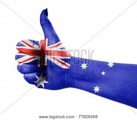National Flag Of Australia On Hand