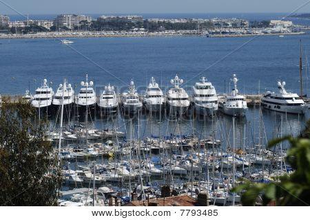 Cannes Harbour Cote D'azur France