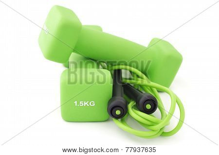 Dumbbells And Skipping Rope