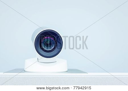 teleconference video conference and telepresence camera for any use poster
