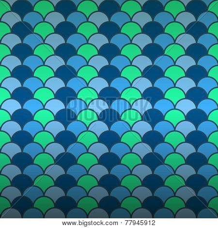 Seamless Fish Scale Pattern Background
