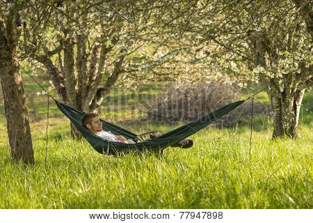 Country Man In Hammock