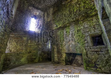 Room Ruins In Castle Walls