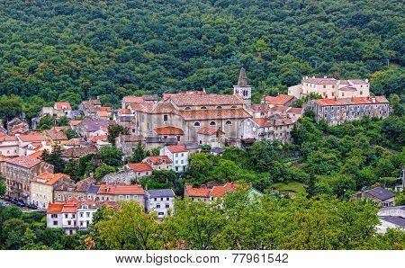 Historic Town Of Bakar In Green Forest