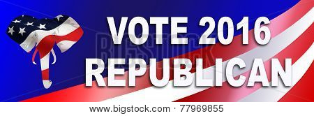 Republican Election Sticker For 2016