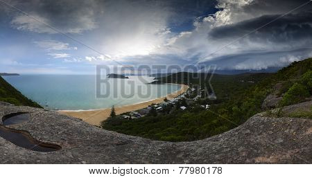 Summer Supercell Thunderstorm Approaching - Weather Climate Panorama Central Coast Australia