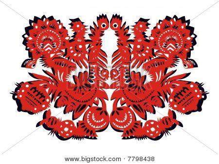 red birds-pattern