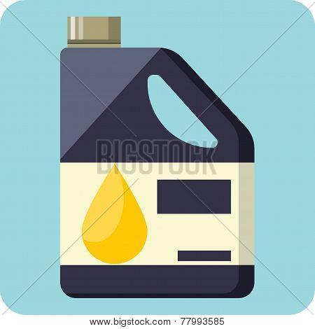 Plastic Canister of Motor Oil