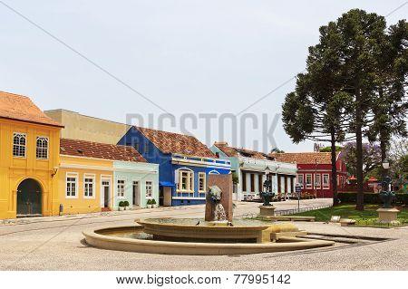 Memory Fountain On Garibaldi Square, Curitiba, Parana State, Brazil