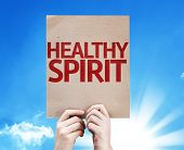 Healthy Spirit card with sky background poster