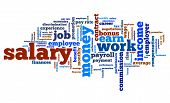 Salary - employment issues and concepts word cloud illustration. Word collage concept. poster
