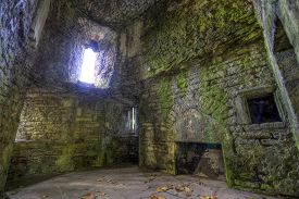 Room Ruins In Castle Walls