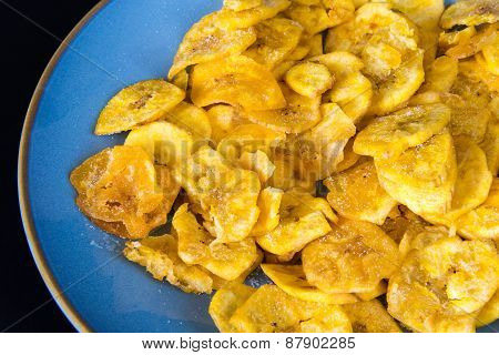 Cuban Cuisine: Green Plantain Salty Chips Or Fries