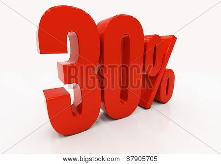 30 percent off. Discount 30. 3D illustration