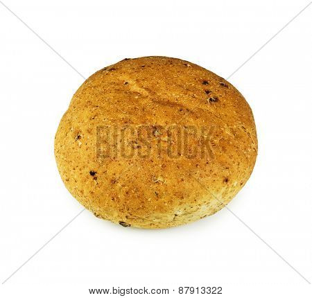 Bread roll on white