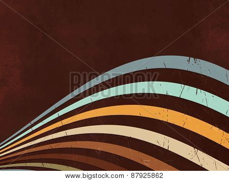 Retro background - abstract lines - 80s style poster