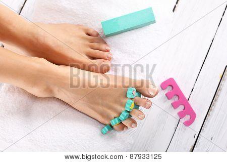 Hygiene feet on vacation