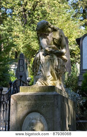 Pere Lachaise cemetery in Paris in France