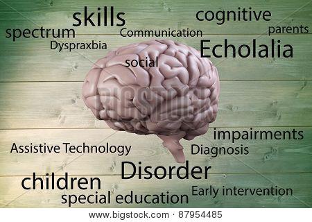 Autism terms against green vignette
