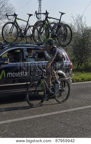 Vicopisano, Italy - March 12: View Of Professional Cyclist March 12, 2015 In Vicopisano, Italy