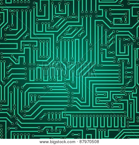 Circuit Board Seamless Pattern