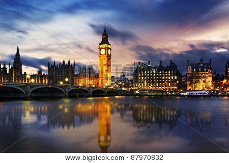 Big Ben And House Of Parliament