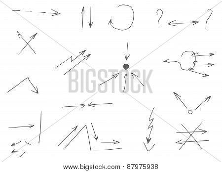 15 Hand-drawn Arrows