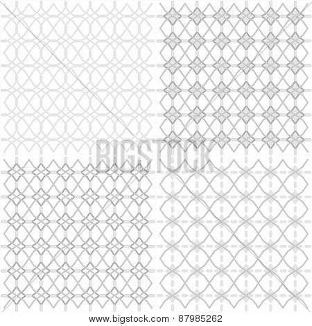 Seamless Geometric Openwork Pattern - Illustration