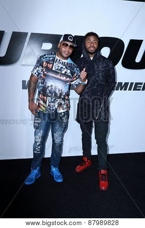 LOS ANGELES - FEB 1:  Flo Rida, Sage the Gemini at the