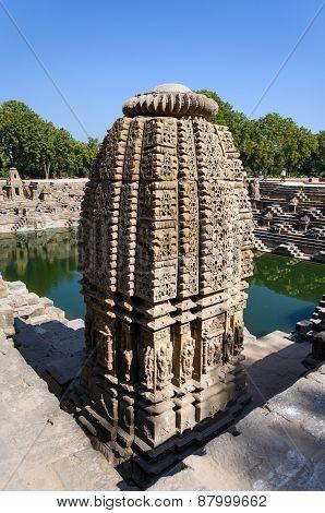 Vintage Crafted Designs On Rocks At Sun Temple Modhera, Ahmedabad