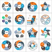Modern paper infographics set for e-business, diagrams, charts, web sites, mobile applications, banners, corporate brochures, book covers, layouts, presentations etc. Vector eps10 illustration poster