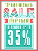 Top Fashion Brands Sale with discount offer, can be used as poster, banner or flyer design. poster