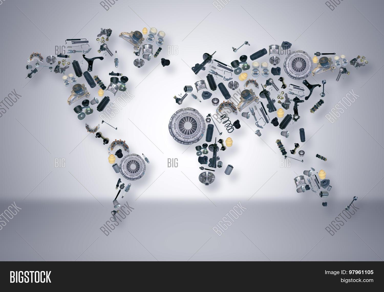 World map spare parts shop auto image photo bigstock world map of the spare parts for shop auto aftermarket gumiabroncs Choice Image