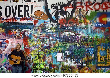 Street Performer In Prague