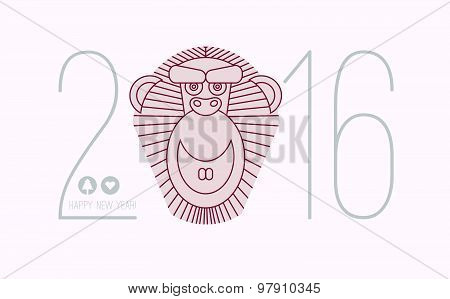 2016 calendar for chineese horoscope new year of monkey. Chinese