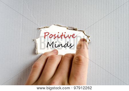 Positive Minds Text Concept